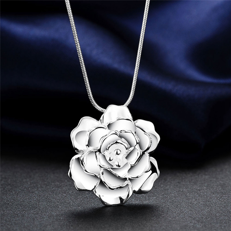 Beautiful design silver flower pendant necklace fashion jewelry for beautiful design silver flower pendant necklace fashion jewelry for women wedding gift top quality 2016 new design n773 in pendant necklaces from jewelry aloadofball Choice Image