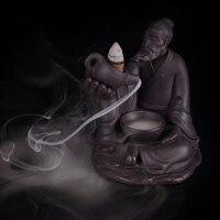 Censer Backflow Aromatherapy Incienso Base Stove Perfume Pottery Aroma Lamp Purify Decor Ceramic Buddha Incense Burner