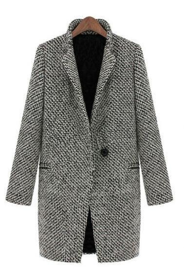 Spring Autumn Women's Wool Coat New Fashion Long Woolen Coat Single Breasted Slim Type Female Autumn Winter Wool Coat