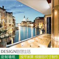 3d three-dimensional wallpaper European buildings of lving room bedroom TV background wall paper photo mural