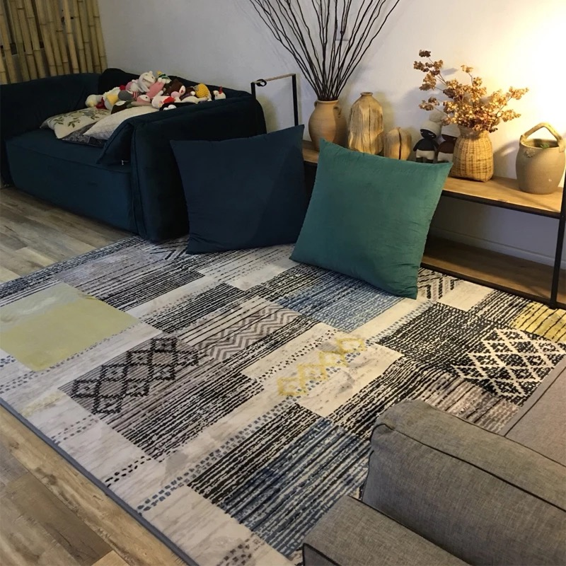 Japanese Korean Carpets For Living Room Home Bedroom Carpet Sofa Table Floor Mat Kids Room Crawling Area concise abstract Rug in Carpet from Home Garden