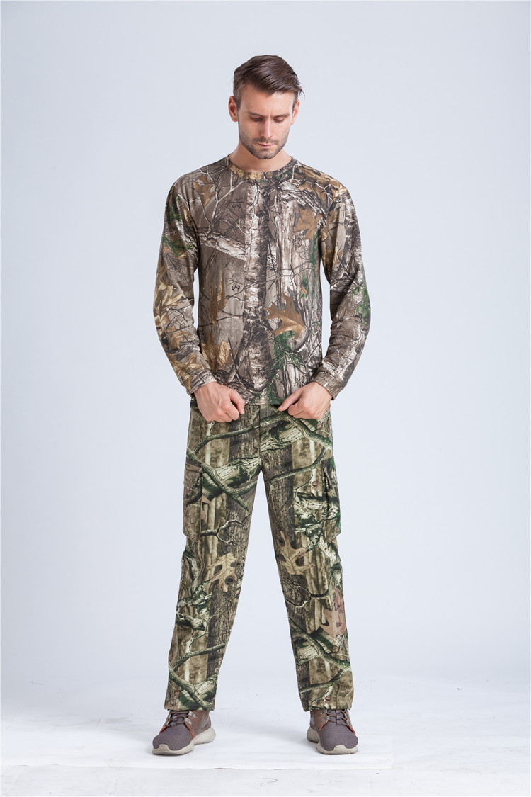 f5a3bf00a047f Reed Camo Pattern Duck Hunting T shirt Long Sleeve Reed Camouflage Shirt Clothes  Free Shipping-in Hiking Shirts from Sports & Entertainment on ...