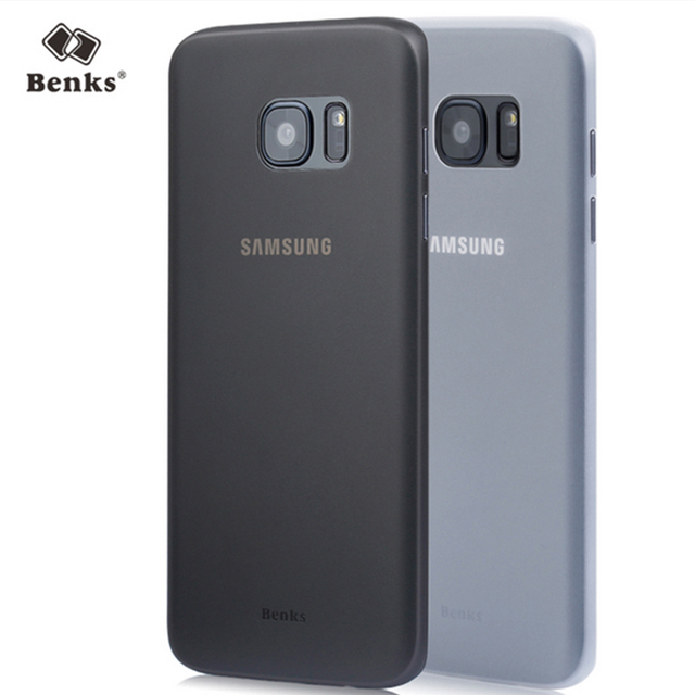 new styles 7a21b fa87e Benks Ultra Thin Case For Samsung Galaxy S7 S7 Edge 0.4mm matte Protective  Phone Cases fitted cover -in Fitted Cases from Cellphones & ...