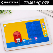 "Carbaystar 10.1 ""laptop TD805 Octa Core 1.5 GHz Ram 4 GB Rom 64 GB Android 6.0 Llamada telefónica Tablet Pc 4G LTE/WCDMA/GPS"