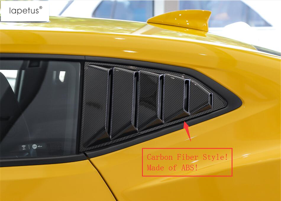 Lapetus Accessories For Chevrolet Camaro 2016 2017 2018 Left & Right Outside Window Louver Scoop Vent Molding Cover Kit Trim|Chromium Styling| |  - title=