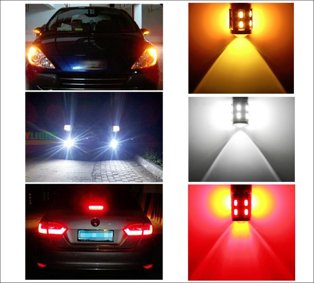 7443 7440 Becuri led auto 12 SMD 5730 Xenon White W21 / 5W 5W Lampă - Faruri auto - Fotografie 6