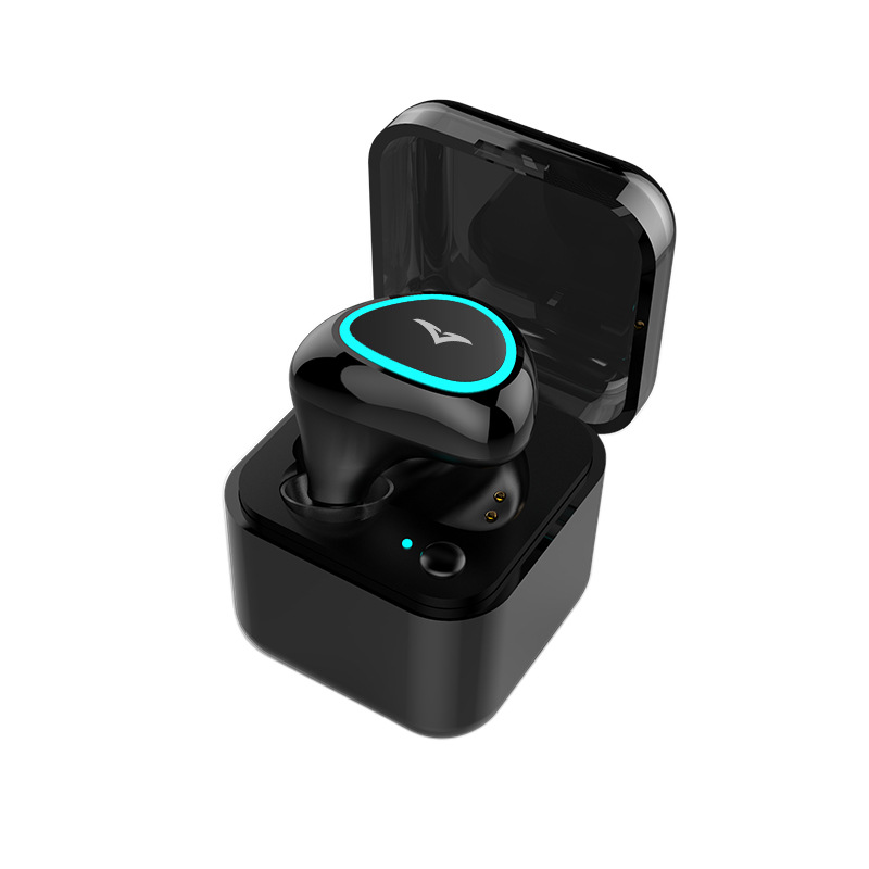 Charging Base Case wireless bluetooth earphone mini sport sweatproof earphone earbud Invisible Mono headset with for phone