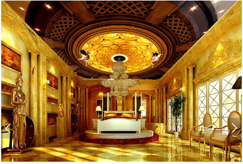 Buy 3d photo wallpaper custom 3d ceiling for 3d ceiling wallpaper