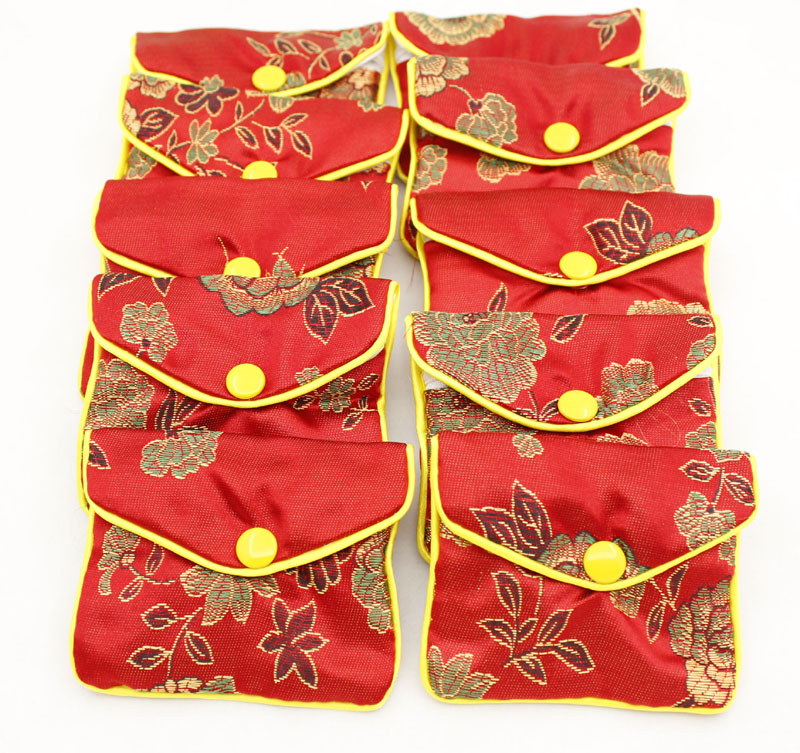 Jewelry Gift Bags Pouches 6cmX8cm Blue Red Champagne