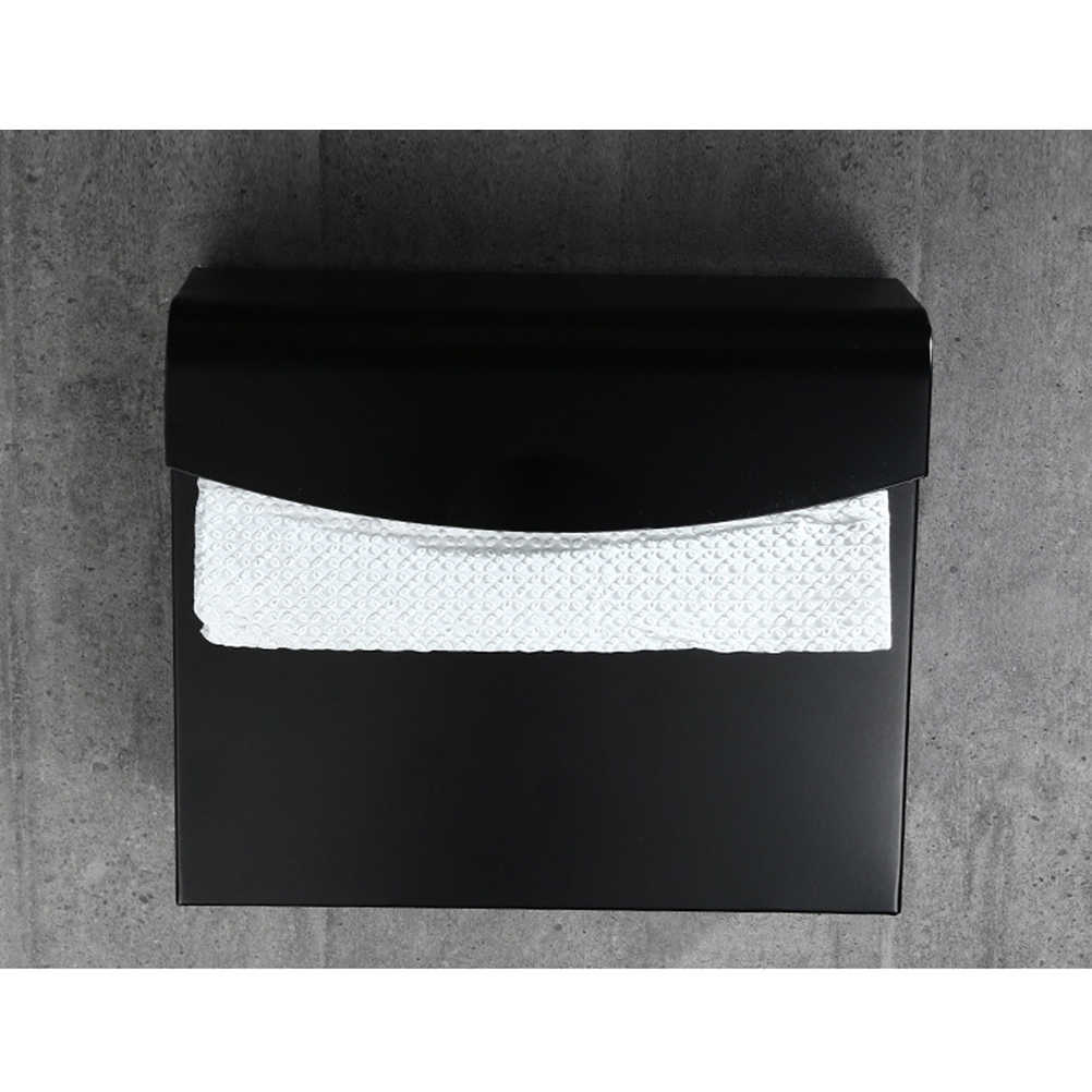 Tissue Box Papier Handtuch Halter Dispenser für Waschraum Badezimmer (Raum Aluminium Aktentasche)