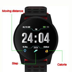 Image 2 - スポーツスマート腕時計男性女性血圧防水アクティビティフィットネストラッカー心拍数モニタースマートウォッチandroid ios