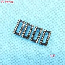 30 pcs Buraco Redondo de 16 Pinos 2.54 MM DIP IC Soquete Adaptador de Solda Tipo de Conector IC (se você precisa de outra quantidade, por favor entre em contato conosco)