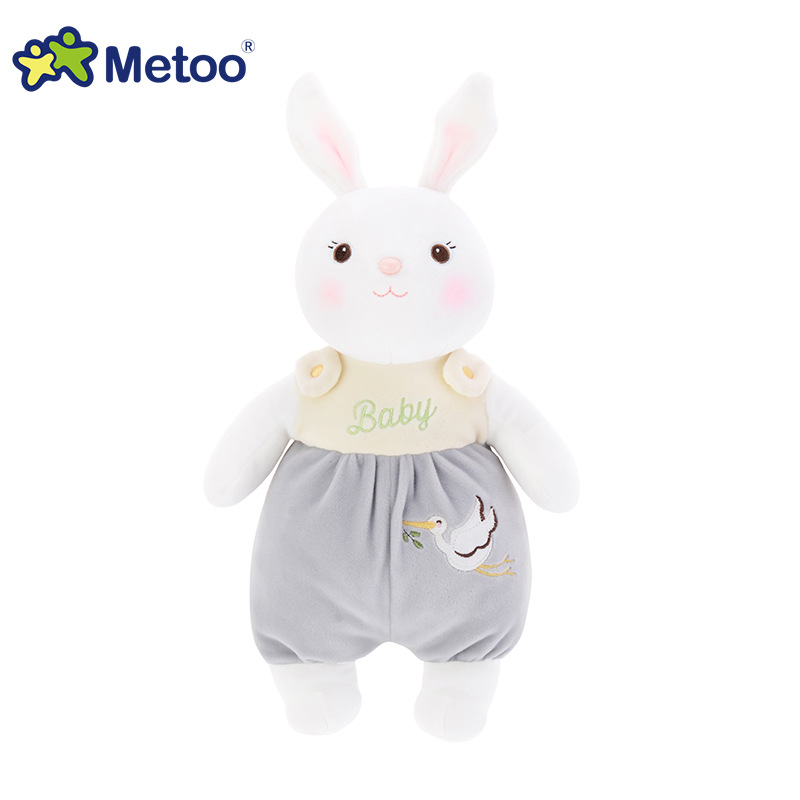 39cm Plush Sweet Cute Lovely Stuffed Baby Kids Toys for Girls Birthday Christmas Gift Tiramitu Rabbits Mini Metoo Doll