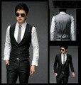2016 Новых людей прибытия Жилет slim fit бизнес жилет пиджак мужской сплошной цвет платья жилеты для мужчин формальный костюм Жилет HY820