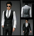 2016 New arrival men's Vest slim fit business gilet blazer masculino solid color dress vests for men formal suit Vest HY820