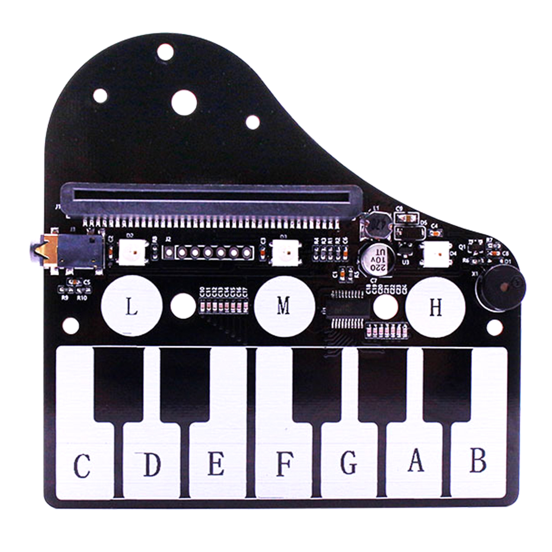 MODIKER Piano Shape Expansion Board Music Development Board With RGB Colored Light Buzzer For Microbit Programmable Toys