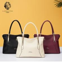 LAORENTOU Brand Women's Bags Lady Leather Shoulder Bag & Crossbody Bags Luxury Female Casual Large Capacity Handbag Zipper Totes