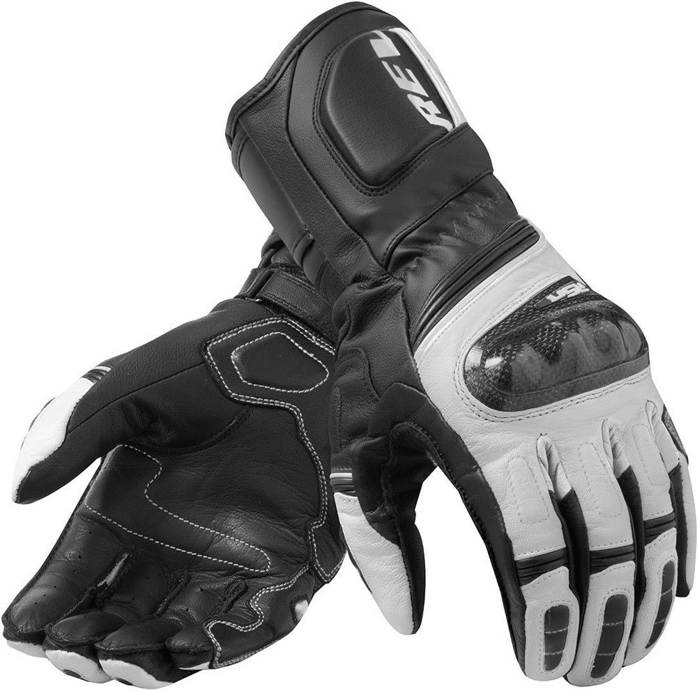 New 2019 REVIT RSR 3 Black/White Motorrad Motorcycle Touring Leather Gloves racing glove / Motorcycle gloves revit 4 colors-in Gloves from Automobiles & Motorcycles    1