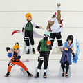 "Anime Naruto Uchiha Sasuke Kakashi Minato Namikaze 6.3"" PVC Figure Model Toy 5 pcs/set"