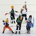 "Anime Naruto Uchiha Sasuke Namikaze Minato Kakashi 6.3 ""PVC Figure Toy Modelo 5 pçs/set"