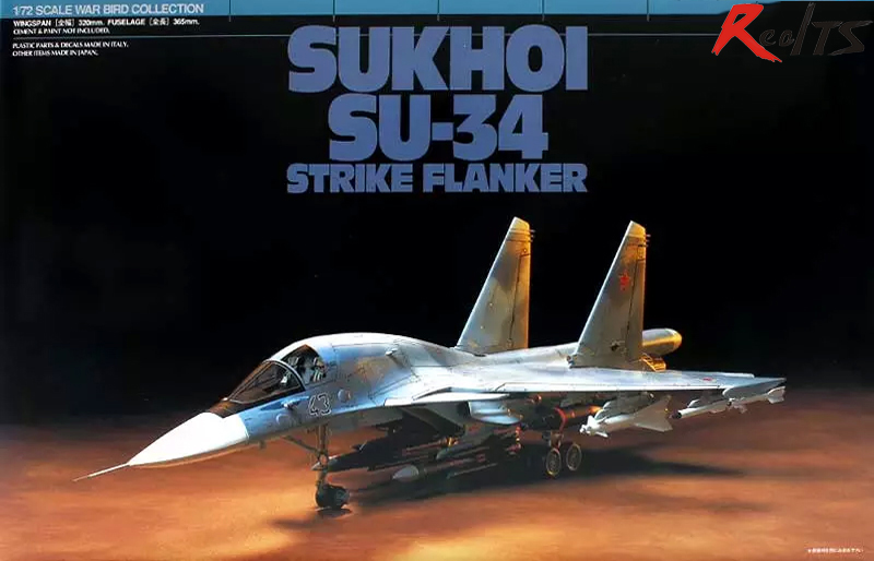 RealTS Tamiya 60743 1/72 Aircraft Sukhoi SU-34 Strike Flanker Model Kit цена