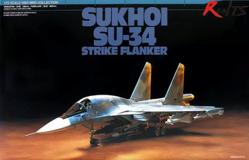 RealTS Tamiya 60743 1/72 Aircraft Sukhoi SU-34 Strike Flanker Model Kit