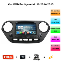 Octa Core 2 Din 8 Android 6 0 Car DVD GPS For Hyundai I10 2014 2015