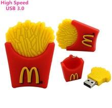 USB 3.0 McDonald's fries usb flash drive cartoon usb drive pen drive  8gb 16gb 32gb 64gb memory stick usb stick Free shipping