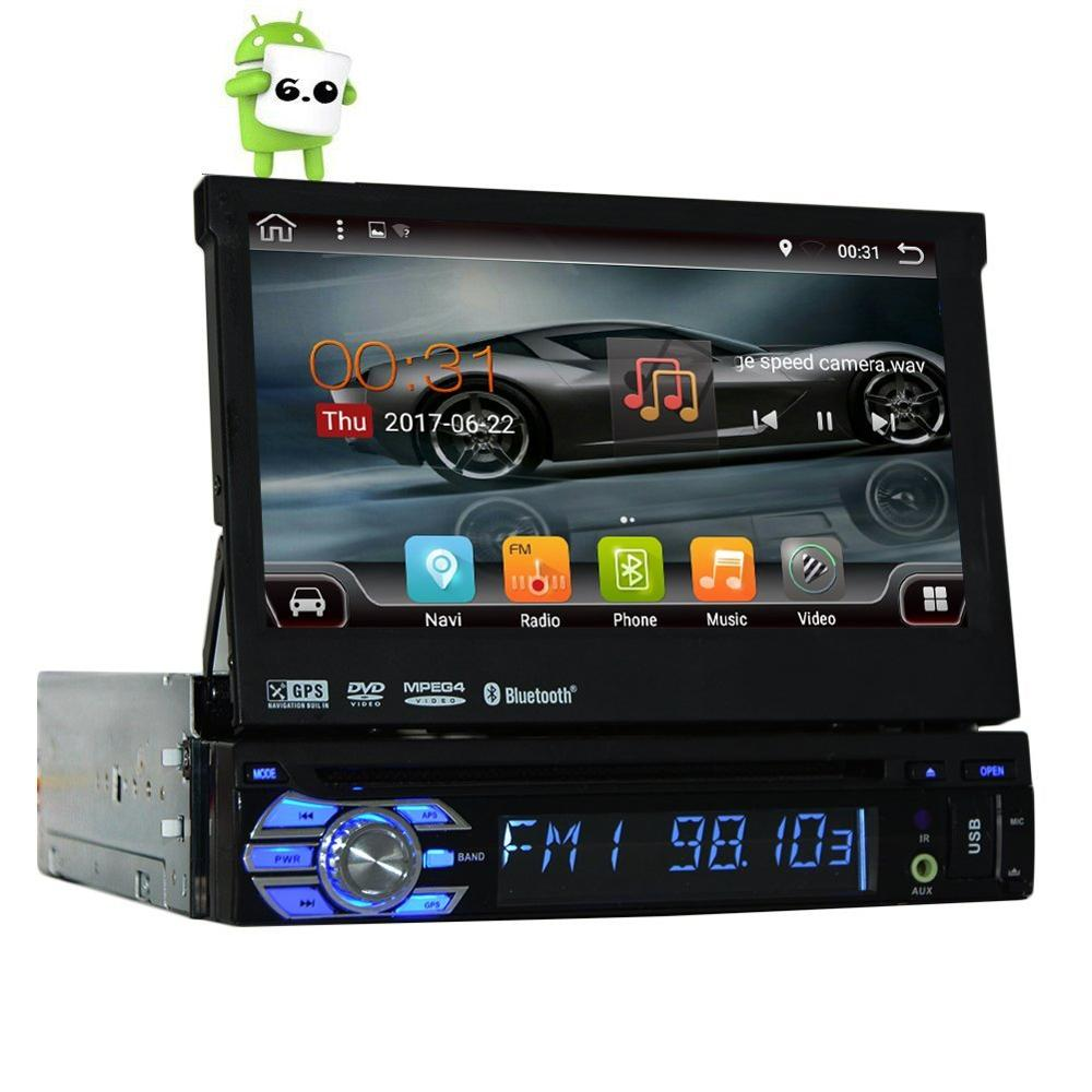 quad core android 6 0 1 din 7 universal touch screen car dvd player autoradio with gps auto. Black Bedroom Furniture Sets. Home Design Ideas
