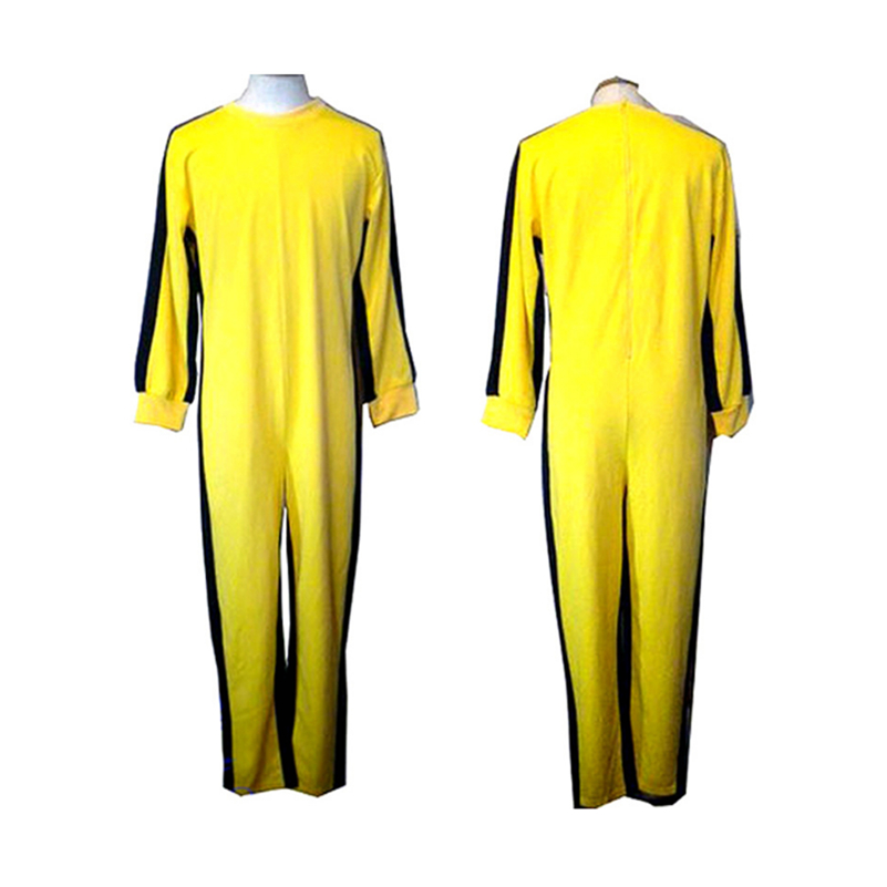 Tracksuit Yellow Men Women Jumpsuit Sports Jacket Apparel Kung Fu Uniform For Girls Set Game Of Death Cosplay Movie Costume Kids