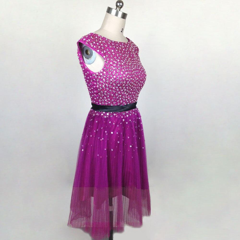 2017 vestido de coctel de lujo moldeado cristalino del organza de la ...