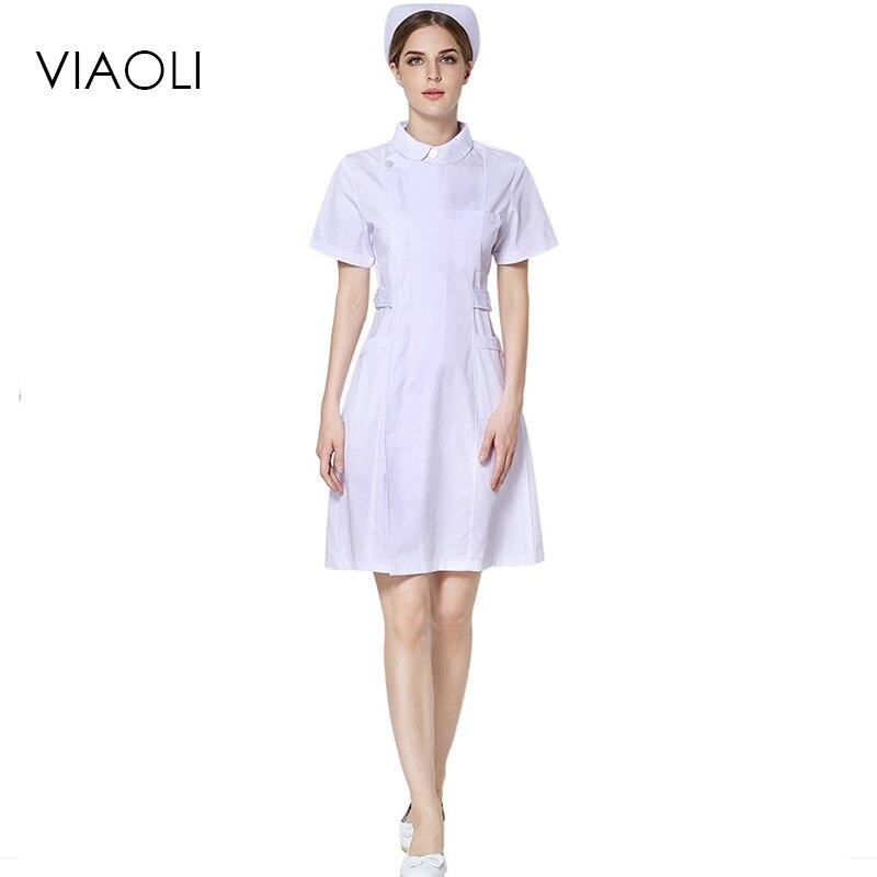 Viaoli Jaleco White Lab Coat Medical Uniform Nurse Services Clothing Polyester Protect Hospital Medical Dress Uniformes Clinicos