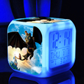 how to train your dragon 2 night fury / toothless night colorful led 7 colors change digital lightclock  glowing  toys