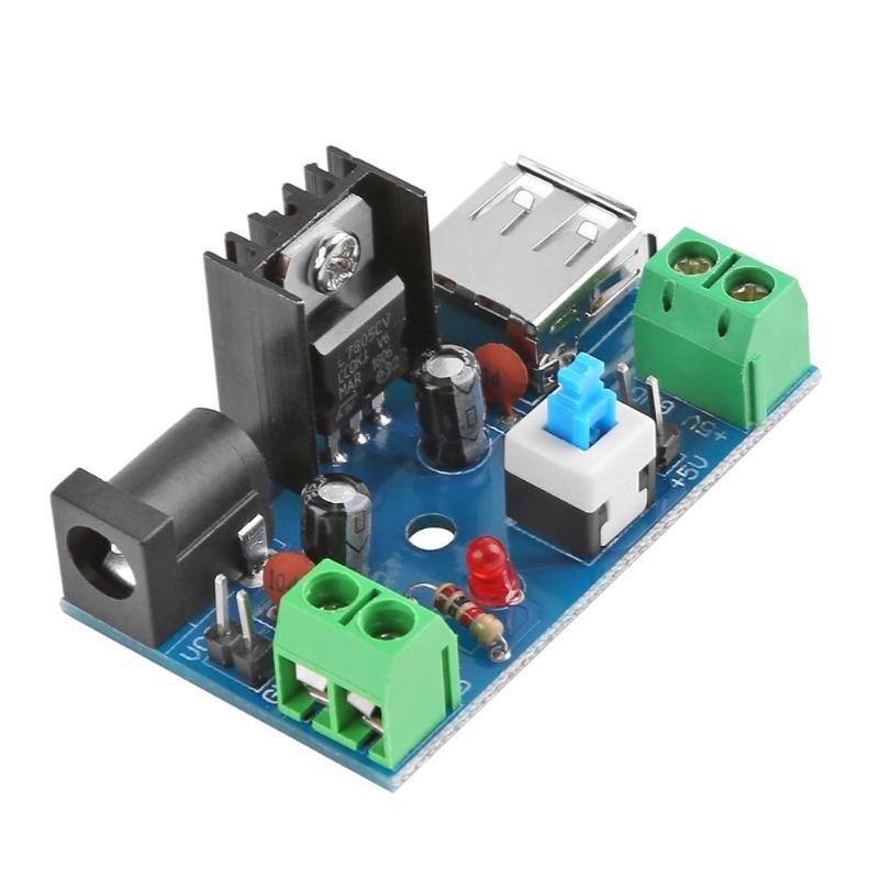50*31*22 мм/1,96*1,22*0,86 \'\'7-15 V 9 V 12 V до 5 V 2A L7805 понижающий преобразователь Питание модуль с переключателем для ноутбука