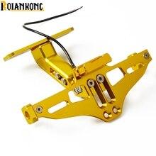 CNC Aluminum Motorcycle Rear License Plate Mount Holder LED Light For Benelli BN600 BN302 TNT300 TNT600 BN TNT300 302 600 GT