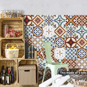 Image 4 - Funlife イスラムトルコタイルステッカー、防水浴室のステッカー、自己粘着装飾キッチンタイル壁の家具のステッカー
