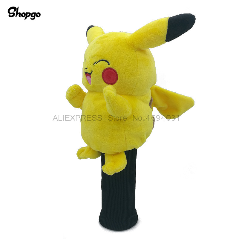 Pikachu Golf Head Cover Fairway Woods Headcover Animal Golf Accessories Mascot Novelty Cute Gift