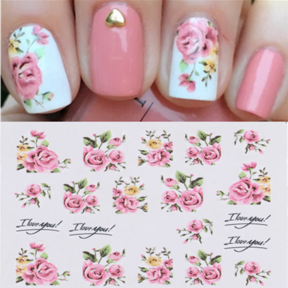 Detail Feedback Questions about New Arrival 2 Sheets Nail Art Water ...