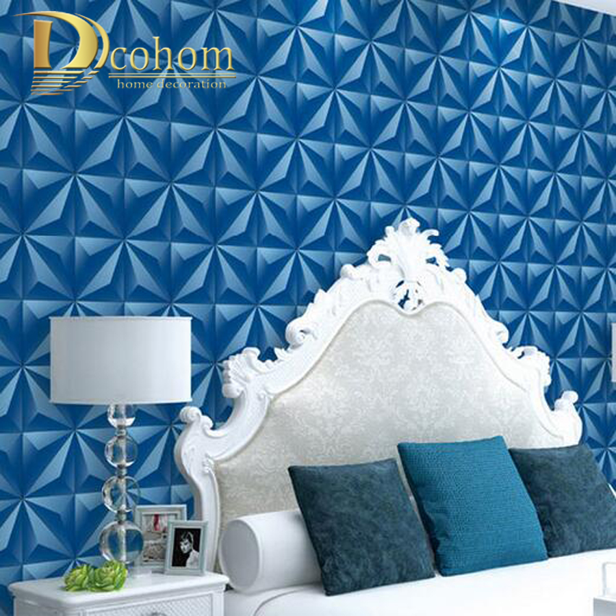 Aliexpress.com : Buy Blue Grey Gold Modern Luxury Plaid Soft Bag 3D  Wallpaper Vinyl Waterproof Bedroom Living Room Wall Decor PVC Wall Paper  From Reliable ... Part 96