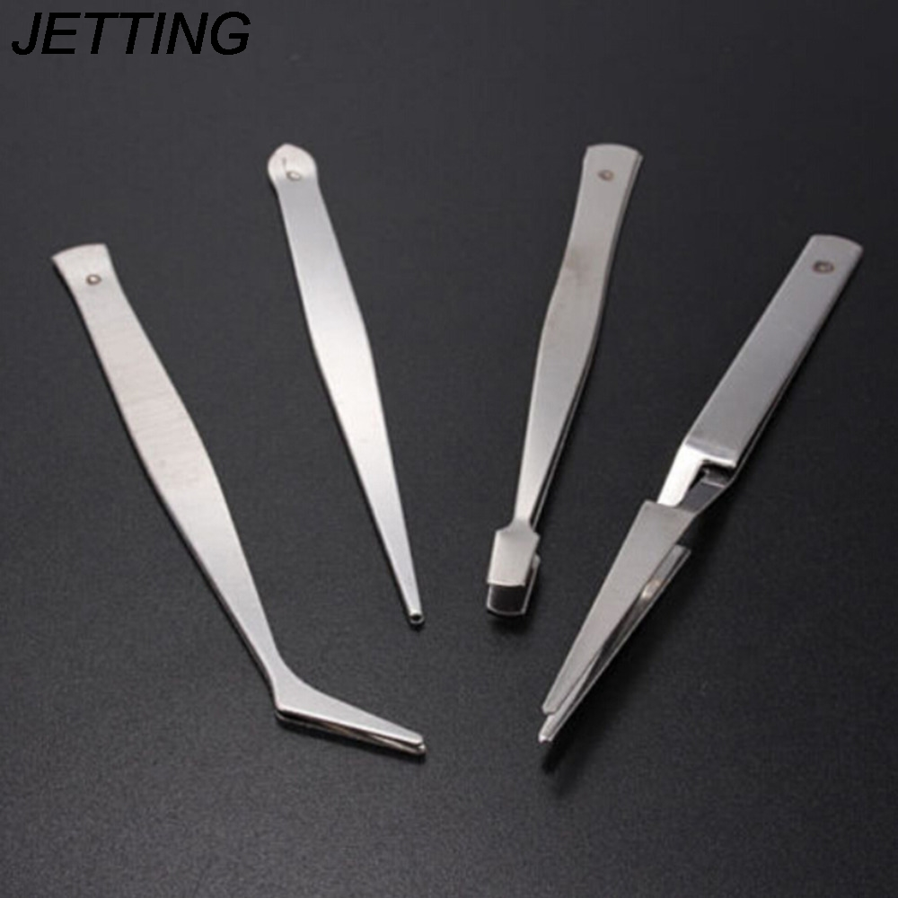4 In 1 Präzision Anti-skid Antistatische Reparatur Picking Montage Werkzeug Löten Assisttweezers Set Elektronische Pinzette Set Neueste Technik Werkzeuge