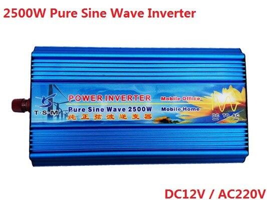 5000W Peak Solar Power Inverter 2500W Pure Sine Wave Inverter 12V/24V/48V DC 120V/220V/240V AC Voltage Converter solar power inverter 1000w 12v 220v pure sine wave inverter generator car battery pack converter 12v 24v dc to 110v 120v 240v ac