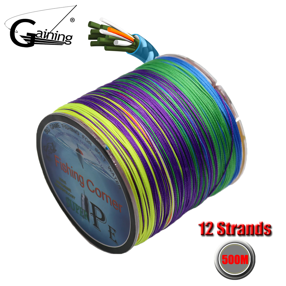 PE Braided Fishing Line 12 Strands Multifilament Super Strong Japan Multifilament Fishing Line 300M 500M 35-180LB
