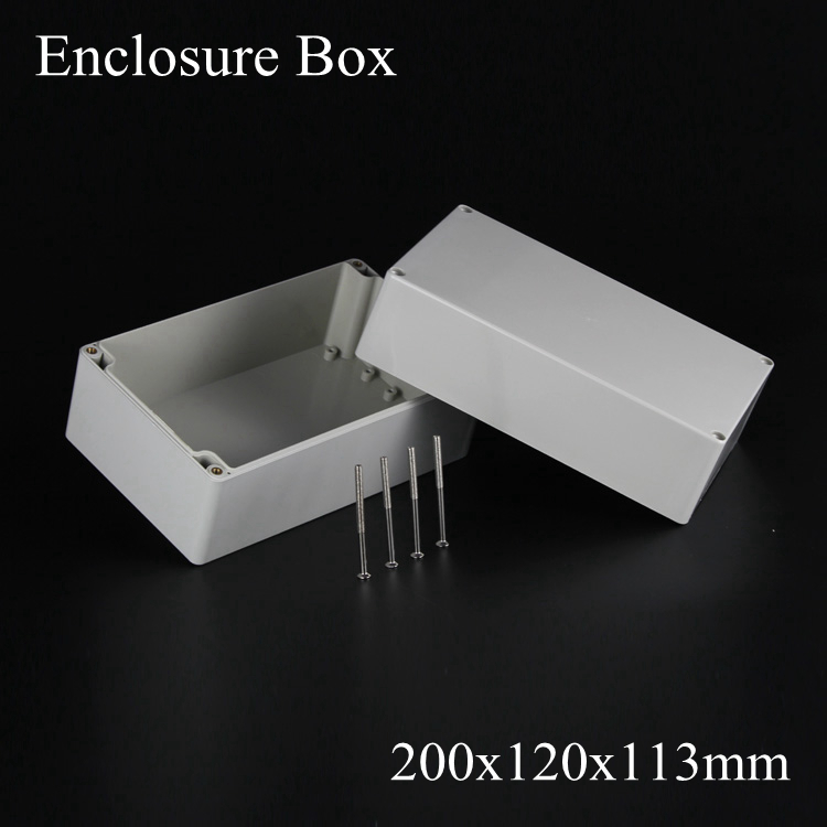 (1 piece/lot) 200*120*113mm Grey ABS Plastic IP65 Waterproof Enclosure PVC Junction Box Electronic Project Instrument Case 65 95 55mm waterproof case