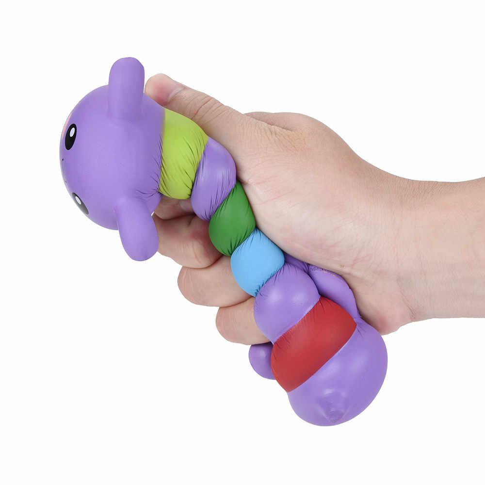17 cm Jumbo Squishy Caterpillar powolny rośnie krem pachnące zabawka antystresowa anty stres zabawki wycisnąć dla dzieci prezent dla dzieci