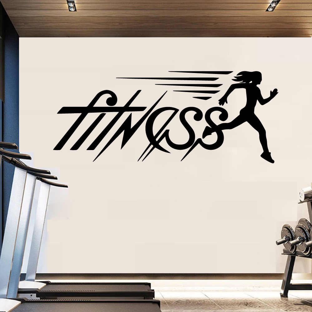 Creative fitness Pvc Wall Decals Home Decor vinyl Stickers Party Wallpaper