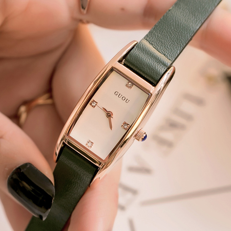 New Mini Small Leather Watch Women Simple Ladies Crystal Watches 2018 Female Quartz Wristwatches Rectangle Clock Montre Femme