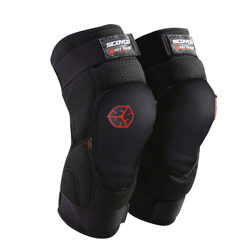 SCOYCO 2 pieces adjustable knee protector CE approval knee guard common use 2 sizes moto sports