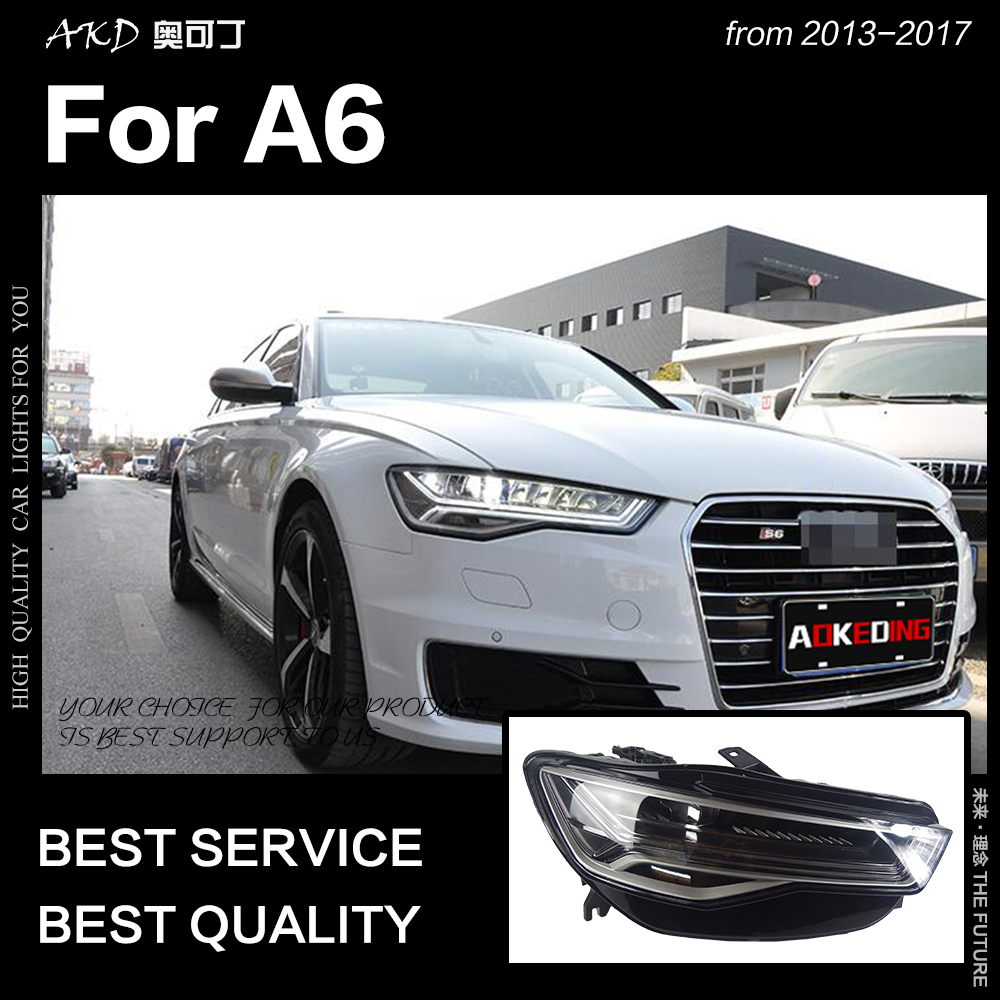 AKD voiture style pour A6 phares 2013-2017 mise à niveau A6L tous les phare LED DRL Hid phare Angel Eye Bi xénon faisceau accessoires - 3