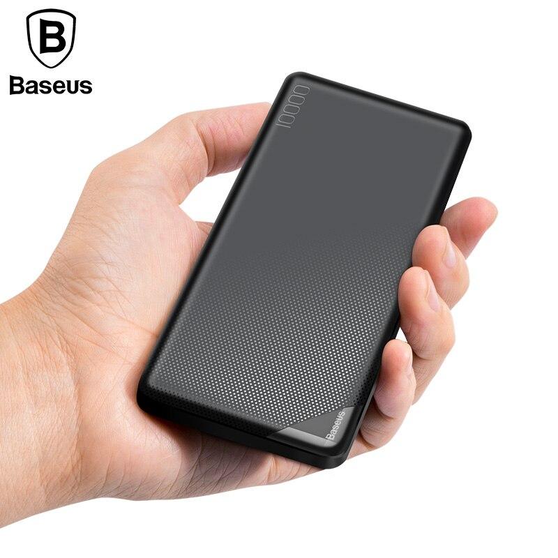 Baseus 10000 mah Accumulatori e caricabatterie di riserva Per il iphone Del Telefono Mobile Batteria Esterna Mini Portatile Accumulatori e caricabatterie di riserva Charger Dual USB Powerbank