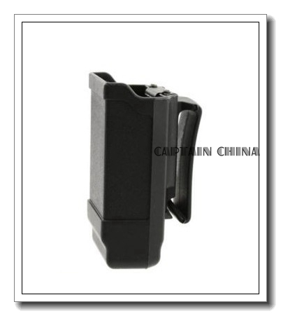 Black Single Stack Mag Carrier Carbon Fiber Magazine Pouch for 9mm to .45 caliber for glock beretta